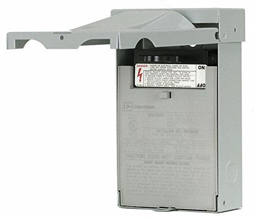 Eaton DPU222R 1-Phase Pull-Out AC Disconnect Switch 120/240 Volt AC 60 Amp NEMA 3R