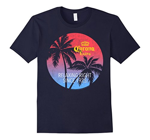 Mens Officially Licensed Corona Extra T Shirt for Beer Lovers XL Navy (Mens Corona Beer)