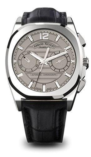 Armand Nicolet Men's J09 Collection A654AAA-GR-PI4650NA