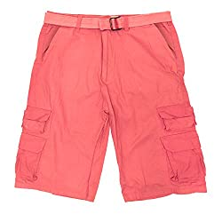 North 15 Men's Belted Ripstop Six-pocket Cargo Cotton Short-5384-Sea Foam-32