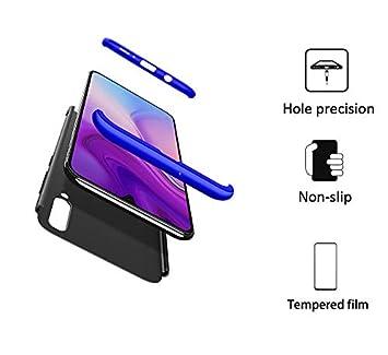 FMPC Funda Compatible con Samsung Galaxy A50, Caso Carcasa Samsung Galaxy A50 Slim Fit 360 Grados 3 in 1 Todo Incluido Protección Cover Anti-Rasguño ...