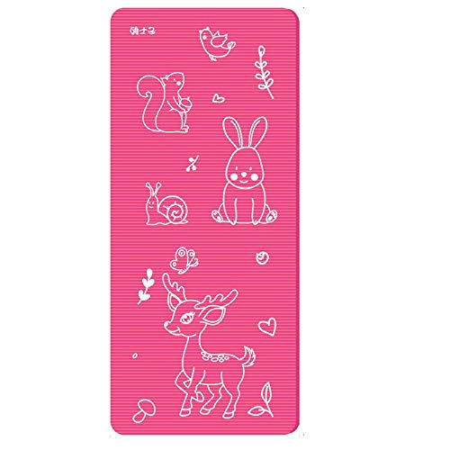 (KASIELY Kids Yoga Mat Exercise Mat, Yoga for Kids with Fun Prints - Playtime for Babies, Active & Calm Toddlers and Young Children B-40 (Pink) )