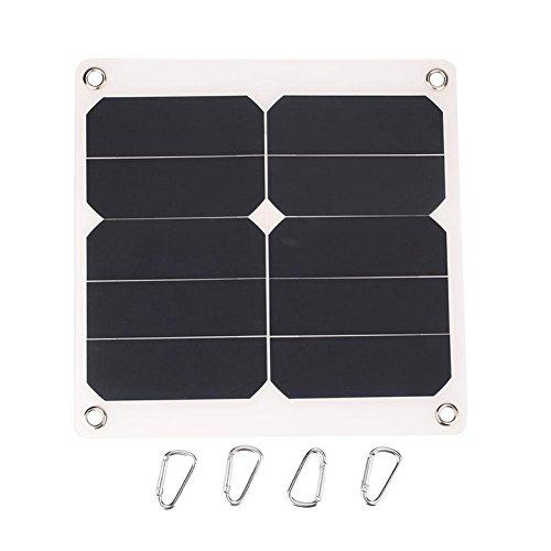 TOOGOO 2A 10W 5V Panneau dalimentation Solaire Externe Batterie De T/él/éphone Portable Panneau Solaire Chargeur avec Port USB Cellule Solaire pour Le Chargement De T/él/éphone