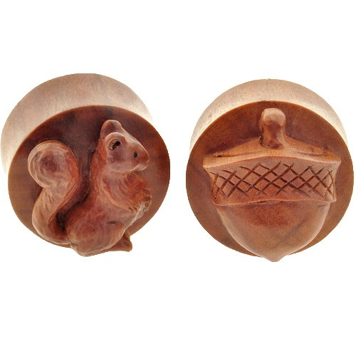 Pair of Sabo Wood Thems My Nuts Plugs