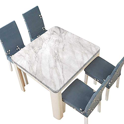 PINAFORE Polyester Cloth Fabric Cover Marble Linen Cotton Tablecloths Kitchen Room 45 x 45 INCH (Elastic ()