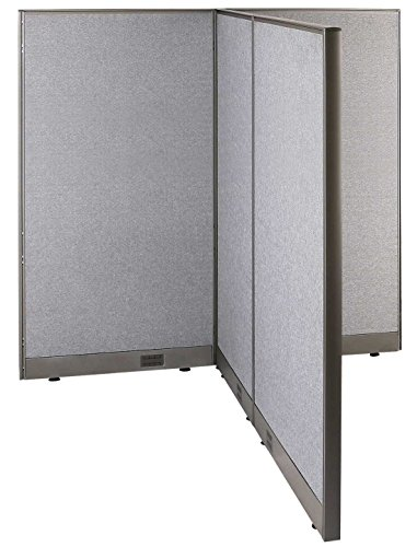 GOF T-Shaped Freestanding Partition 66d x 60w x 72h / Office, Room Divider by GOF