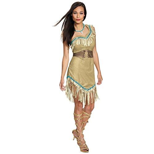 Pocahontas Women's Adult Prestige Indian Dress Costume (M) (Pocahontas Adult)