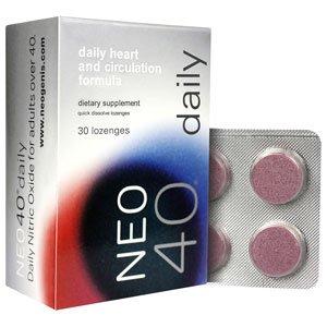 Neo40 quotidienne de 30 pastilles - Supplément d'oxyde nitrique