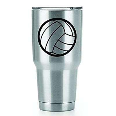 Volleyball Vinyl Decals Stickers (2 Pack!!!) | Yeti Tumbler Cup Ozark Trail RTIC Orca | Decals Only! Cup not Included! | 2-3 X 3 inch Black Decals | KCD1240: Automotive