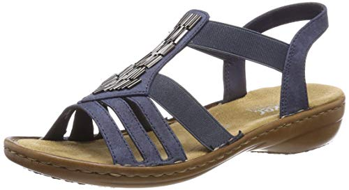 Rieker Womens Regina 60800 Synthetic Baltik Sandals 10 US
