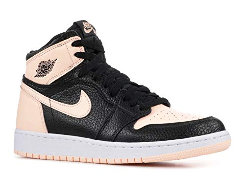 Jordan Air 1 Retro High OG GS (Black/Crimson Tint-White, 6.5Y) (Shoes Girls Jordans)