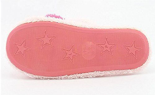 Cinyifan Cute Love Hearts Soft Warm Plush Slippers Casa Sliper Zapatos Interior Rose