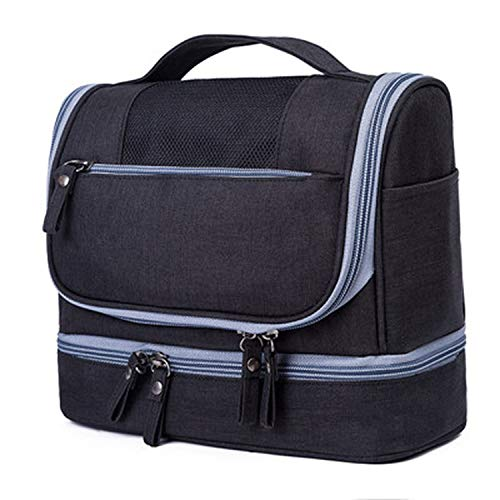 - Waterproof Men Hanging Makeup Bag Oxford Travel Organizer Cosmetic Bag for Women Necessaries Makeup Case Wash Toiletry Bag,Black