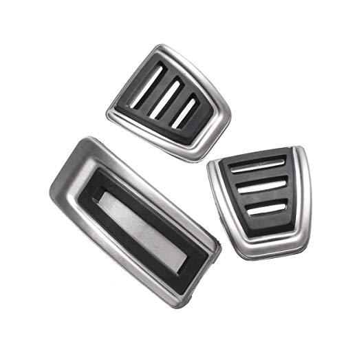 - Star-Trade-Inc - 3Pcs/Set Car Clutch Brake Accelerator Pedal Footrest Pad Covers For Seat/Skoda/Fabia/VW/Polo 9N 6R /Bora/Golf MK4 IV