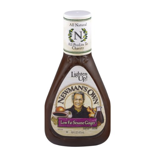 Newman's Own Dressing Low Fat Sesame, 16-Ounce (Pack of 3) (Sesame Ginger Dressing)