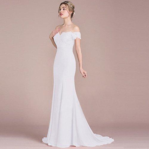 Mode Hochzeitskleid Kleid High Wort Einfarbig Sleeveless EIN End L Y OBIqZZ