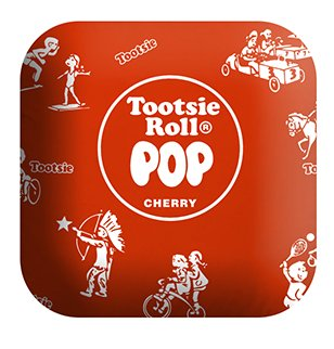 Tootsie Roll PIL-TR-RWRAP 14 in. Large Plush Red Tootsie Roll Pop Candy Pillow ()