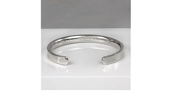 6352bdb90e467 Amazon.com  Mens Chunky Silver Cuff Bracelet  Handmade