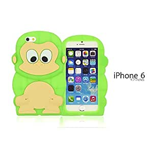 OnlineBestDigital - Monkey Style 3D Silicon Case for Apple iPhone 6 (4.7 inch)Smartphone - Green