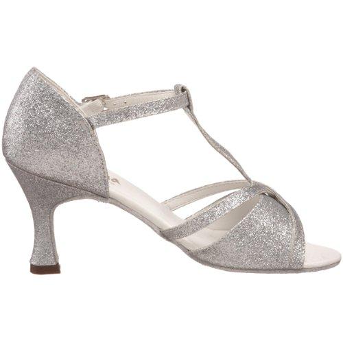 Sansha Women's Tina Ballroom Shoe Silver lR2M5KuTYX
