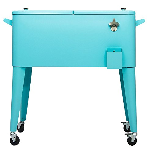 Permasteel 80 Quart Portable Picnic Cooler in Turquoise