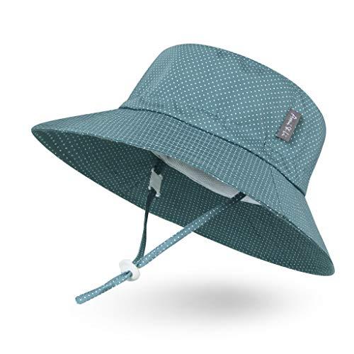 Ami&Li tots Adjustable Sunscreen Bucket Sun Protection Summer Hat for Baby Girl Boy Infant Kid Toddler Child UPF 148
