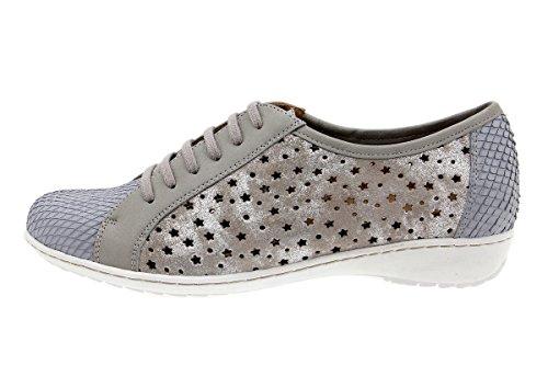 Amples Femme Cuir à Indigo Lacets Perla Chaussures Chaussure Confort 1752 en PieSanto Confortables 5xncqvAZB