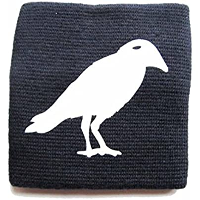 Sweatband Wristband Wrist Warmer With Zipper Pull Purse Miniblings Raven Bird Dark Blue Estimated Price -