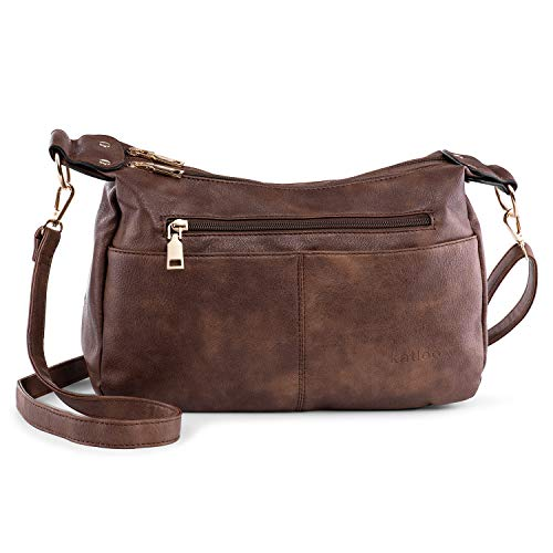- Katloo Shoulder Purse Women PU Leather Crossbody Bag Handbag for Cell Phones Wallet Cosmetics (Coffee)