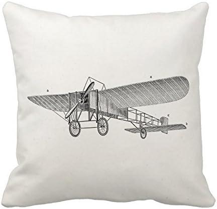 Custom Vintage Plane Pillow Cover