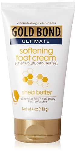 Gold Bond Ultimate Softening Foot Cream with Shea Butter, 4 Ounce (Foot Creme)