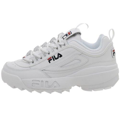 Fila Men's Disruptor II Sneaker,White/Peacoat/Vinred,6.5 M