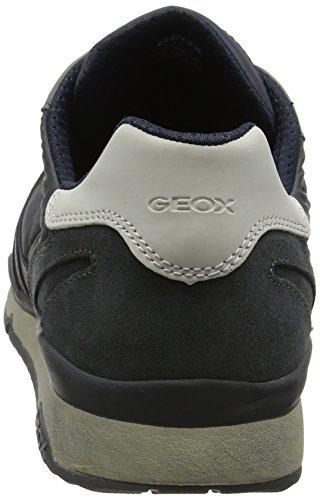 Geox U Sandford B ABX A, Scarpe da Ginnastica Basse Uomo Grigio (Anthracite)