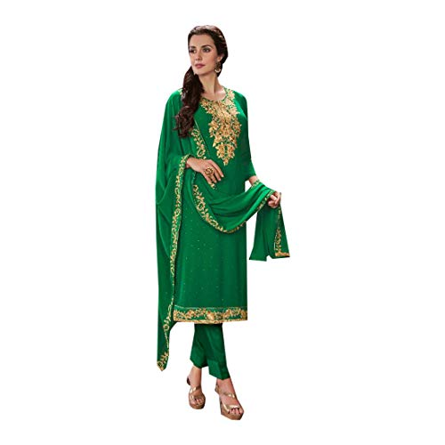 Kamiz donna Georgette Bollywood Indian da Abito Kurti Girl 2876 da Donna Kameez Top Pantalone Women donna sposa Dritto Completo Party dritto Salwar New Dirndl Pakistani da xawHIHq
