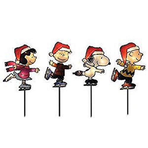 Peanuts 4 Lighted Pathway Markers 8