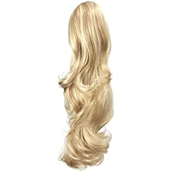 "OneDor 20"" Curly Synthetic Clip In Claw Drawstring Ponytail Hair Extension Synthetic Hairpiece 190g with a jaw/claw clip (R1488H)"