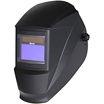 Antra AH7-360-0000 Solar Power Auto Darkening Welding Helmet with AntFi X60-3 Wide Shade Range 4/5-9/9-13 with Grinding Feature Extra lens covers Good for Arc Tig Mig Plasma