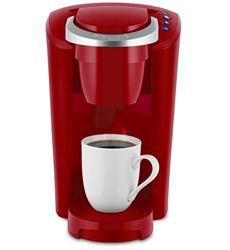 Keurig K-Compact Single Serve Coffee Brewer Maker in Red with the Slimmest Removable Reservoir features Auto Off and Simple Button Controls