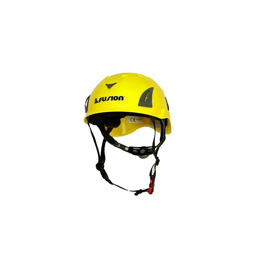 Fusion Climb Meka II Climbing Bungee Zipline Mountain Safety Protection Helmet, Yellow/Black