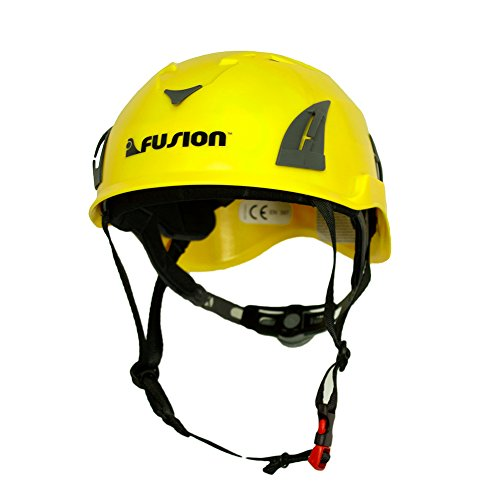 Fusion Climb Meka II Climbing Bungee Zipline Mountain Safety Protection Helmet, Yellow/Black