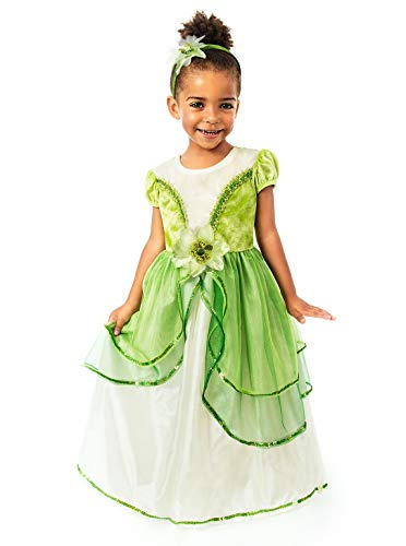 Little Adventures Lily Pad Princess Dress Up Costume Girls (Large Age 5-7)
