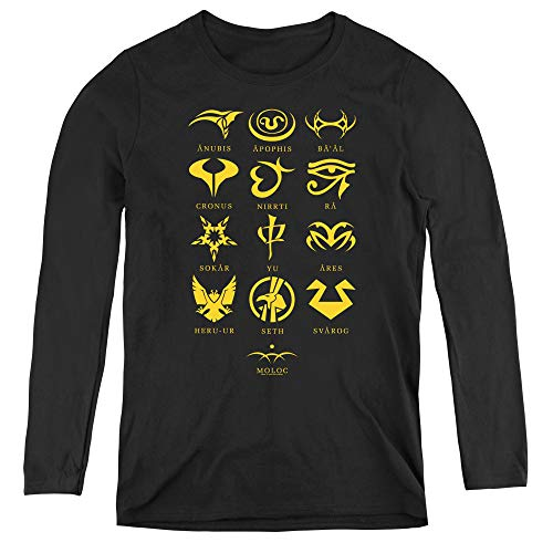 Sg1 Goauld Characters Adult Long Sleeve T-Shirt for Women, Small -