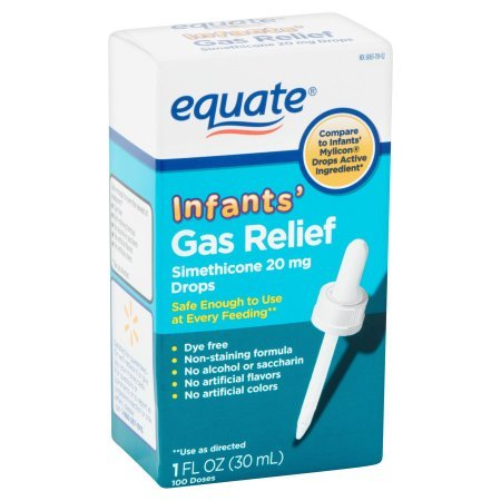 PACK OF 12 - Equate Non Staining Formula Infants' Gas Relief Drops, 1 fl oz by Equate (Image #1)