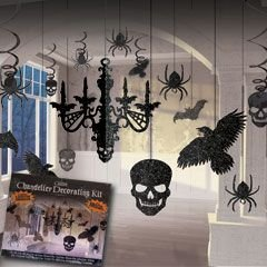 [Glitter Haunted House Chandelier Halloween Trick or Treaty Party Decorating Kit, Paper, 15