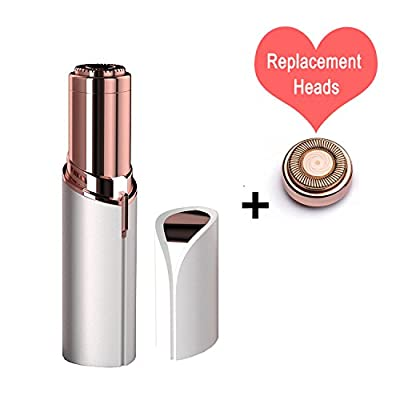 Flawless Women's Painless Facial Hair Remover, Ladies Lipstick Shaving Device Mini Electric Face Epilator Hair Removal Shaving Artifact Effective Facial Hair Removal - Battery Operated