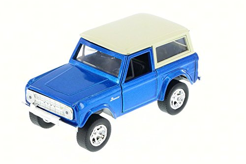 Jada 1973 Ford Bronco Truck, Blue 97051 - 1/32 Scale Diecast Model Toy - Ford Truck Diecast Car