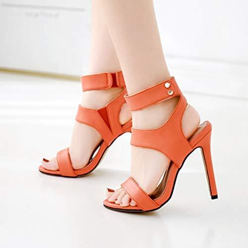 bb9ab1b03e929 Amazon.com: ChainSee Open Toe Women Platform Fluorescent High Heel ...