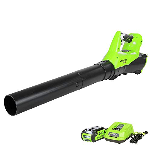 NEW Greenworks G-Max 40v 110mph 390 cfm Leaf blower W/ 2.5 A