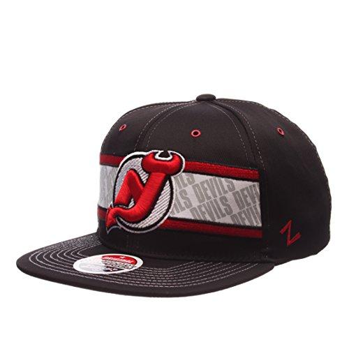 New Jersey Devils Epic Adjustable Snapback Cap - NHL Flat Bill Zephyr Baseball Hat
