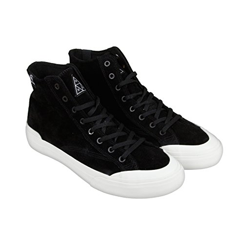 HUF Men's Classic Hi Vintage Inspired Hi Top Skate Shoe, Black/Bone, 9.5 M US